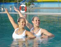 Karin Eggenberger and Marina Kersting - Synchronised swimming champions