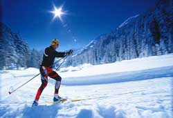 Nordic skiing in Steg, Liechtenstein