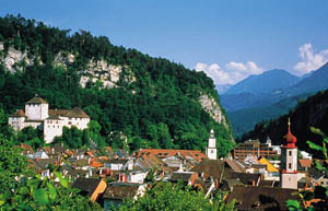 View over the frontier town of Feldkirch