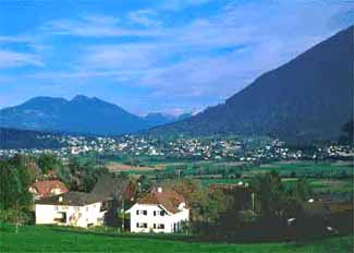 Views towards Austria from Schellenberg